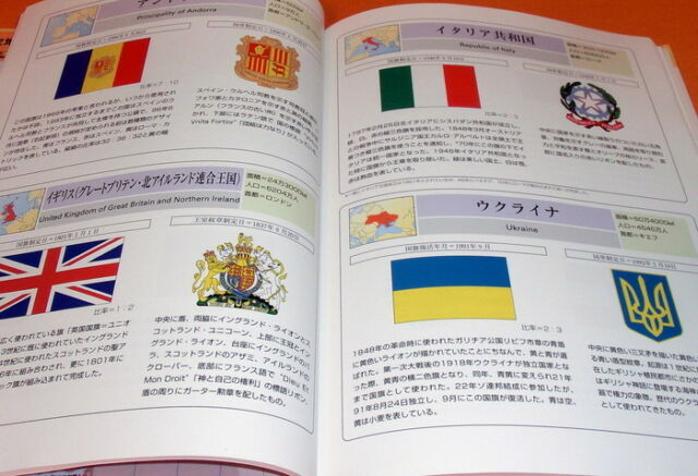 PICTORIAL BOOK OF NATIONAL FLAGS & EMBLEMS OF THE WORLD japanese #0356