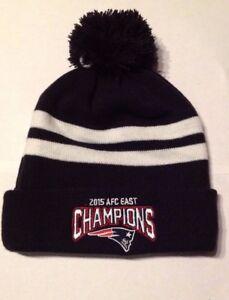 3d6e7027d Details about NEW ERA New England Patriots Pom Beanie Knit Hat AFC  Champions Super Bowl Brady