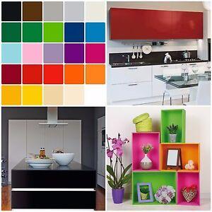 Möbelfolie 10€//m² Uni Weiß Glanz Selbstklebefolie Fototapete Orafol Oracal Küche