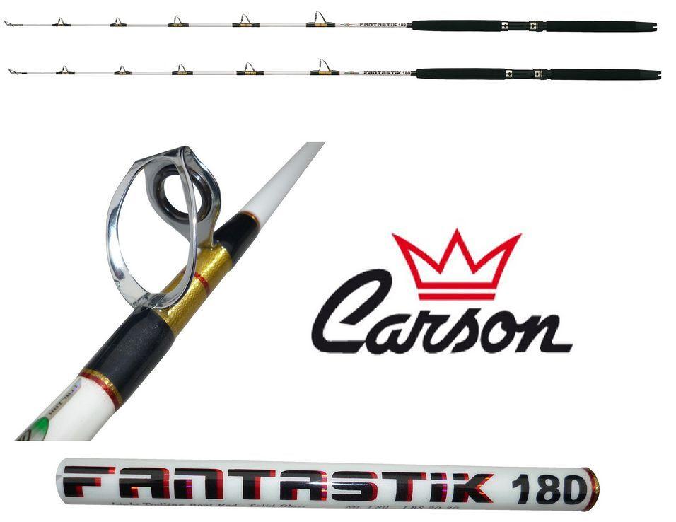 Kit 2 canne 5080Lb fantastik pesca traina altura tonno rosso drifting