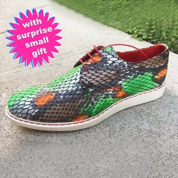 sneak skin multicolor Leather man woman sneaker shoes you can use unisex