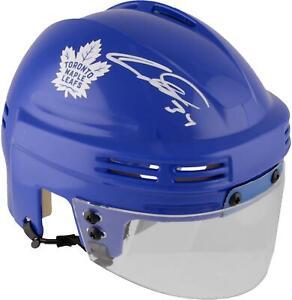 Auston Matthews Maple Leafs Signed Blue Mini Helmet - Fanatics