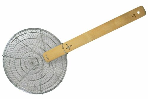 "52cm Länge Wok-Sieb Nudelsieb // Sieblöffel ca Ø ca 9/"" inch 23cm"