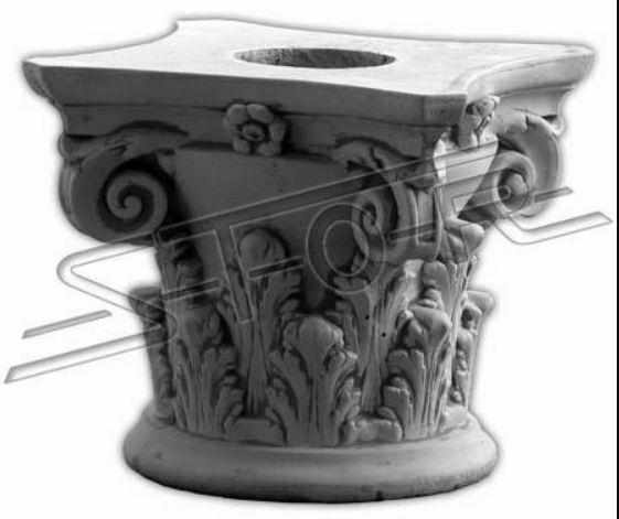 Decorazione pilastro pilastri di pietra antico romano supporto Socket PORTAFIORI 631