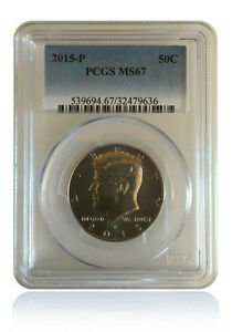 NGC MS67 2015 P/&D Kennedy Half Dollar 50C Gem Uncirculated 2-Coin Set