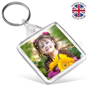 Premium Clear Acrylic Blank Keyrings Key Fobs 38 x 38 mm ...