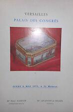 1971 Catalogue de Vente ILLUSTRE VERSAILLES TABLEAUX ANCIENS&MEUBLES XVIIIè