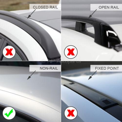 Modula Aluminium Aero Roof Bars Set to fit Vauxhall Crossland X 17-20 Non Rail