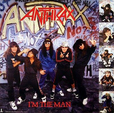 Anthrax 1987 I'm The Man Rare Original Promo Poster