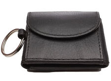 Mini-Jeans-Börse schwarz LEDER Geldbörse Minibörse Geldbeutel Schlüsselanhänger