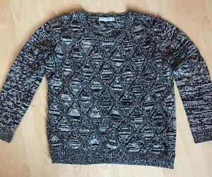 et en laine noire diamants maille de en Pullover noiremélange maille GMSzVqUp