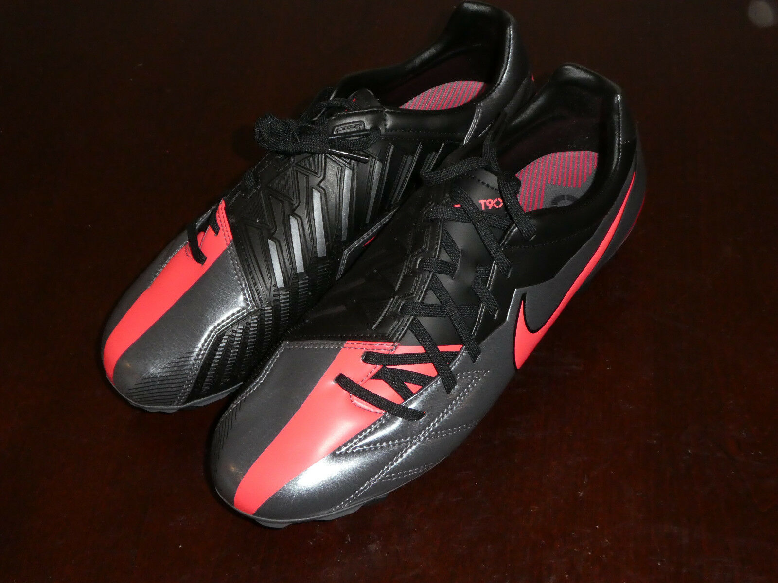 Nike T90 Strike IV FG Soccer Cleats new shoes 472562 060 grey