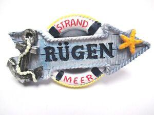 Rügen Baltic Sea Magnet Anchor Beach Ocean Poly Souvenir Germany