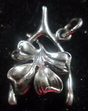 VINTAGE STERLING SILVER 4 LEAF CLOVER AND WISH BONE CHARM