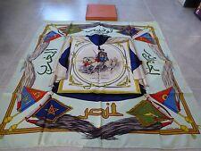 """authentique carré hermès """"le commandant bouscarens des spahis 1840"""" boite"""