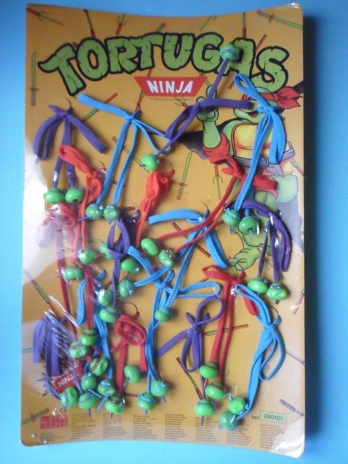RARE VINTAGE 1988 TMNT TEENAGE MUTANT NINJA TURTLES TURTLES TURTLES LACE-UP schuhe DISPLAY c2bec2