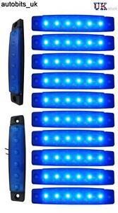 10-pcs-blue-24v-6-led-side-marker-indicators-lights-truck-trailer-bus