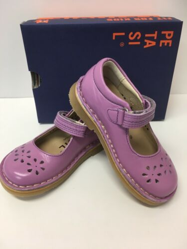 Petasil Clara Girl Mary Jane Style Shoe in Lilac Leather