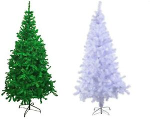 Artificial Christmas Trees Uk.Details About Artificial Christmas Tree Green White 4 5 6 7 8 Ft Xmas Decorations Uk Stock