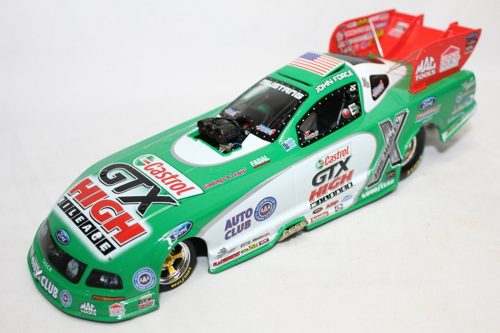 Action 1 24 Scale JOHN FORCE CASTROL 2008 MUSTANG FUNNY CAR