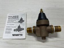 Watts N45b 34 Bronze Water Pressure Reducing Valve Range 25 75 Psi Set 50 Psi