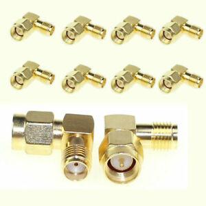 10x-SMA-Male-To-SMA-Female-Jack-RF-Adapter-Connector-Plug-90-Degree-Right-Angle