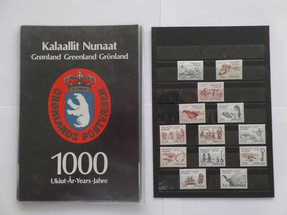 Grønland, postfrisk, Specialmapper