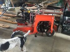 Rare Vintage Orange Red Unique 1953 Bantham Garden Tractor With Plow Manual Amp More