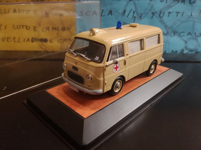 1 43 Fiat 1100 T Croce  Rossa Italiana ambulanza ambulance ambulacia DRK CRI CRF  vente discount en ligne