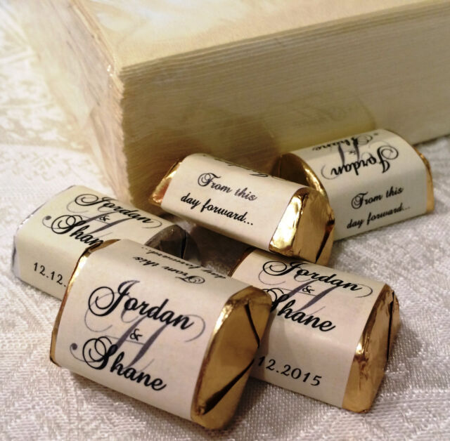 120 IVORY MONOGRAM wedding candy WRAPPERS/STICKERS/LABELS personalized FAVORSy