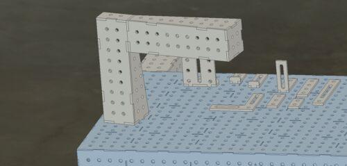 DXF+Zeichung//Stückliste 3d Schweißtisch Pläne diverse größen