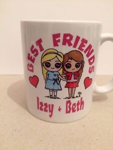 Christmas Present Ideas For Best Friends Girl.Details About Best Friends Personalised Mug Cup Gift Girl Christmas Present School 339