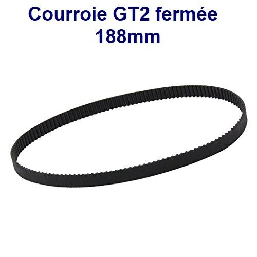 Belt/Strap GT2 Closed 188mm 94 Tooth Width 6mm for Printer 3D And CNC