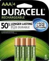 4/pack Duracell Aaa Rechargeable Batteries, Aaa4 1.2v Nimh Exp 2021 Dx2400
