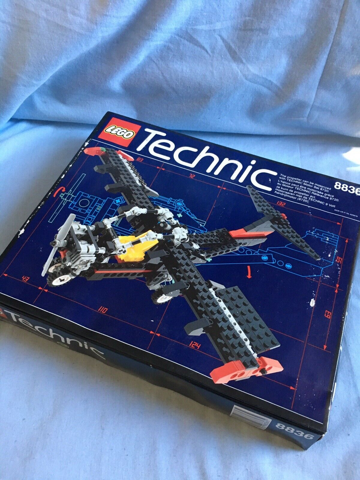 Lego Technic 8836, 1992, Original Factory Sealead låda, Fair Condition, fri Post