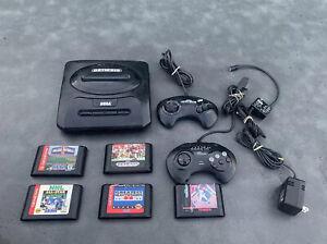 SEGA Genesis Model MK-1631 Video Game System Bundle w/ 5 Games & 2 Controllers