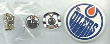 NHL Edmonton Oilers 3 Pin/1 Button Lot 1990's OOP