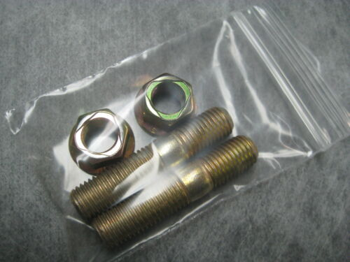 Ships Fast! 10mm Exhaust Stud /& Lock Nut M10x1.25 Pack of 2 Studs 2 Nuts