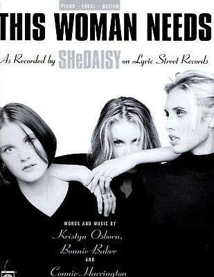 Enthousiast Shedaisy-this Woman Needs-sheet Music-piano/vocal/guitar-brand New On Sale-mint Verfrissing