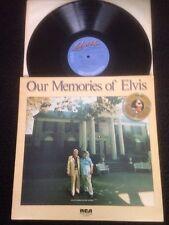 Elvis Presley - Our Memories Of Elvis (Are You Sincere etc) Vinyl LP RCA PL13279