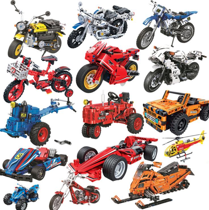 Motorrad F1-Rennwagen Klassisches Auto Geländewagen Schneemobil Kinder Spielzeug