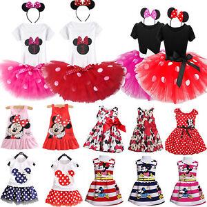 Tout-Petit-Enfants-Filles-Minnie-Mouse-Fete-de-Princesse-Tutu-Jupe-Robe