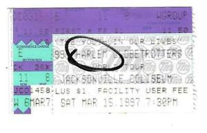 Harlem-Globetrotters-Jacksonville-Coliseum-ticket-stub-March-15-1997