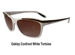 oakley womens sunglasses confront  image is loading oakley confront womens sunglasses white tortoise frame dark