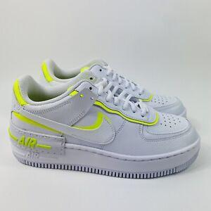 Details about Nike Air Force 1 Shadow Women's Shoes White Lemon Venom CI0919-104 Sz 8.5 No Lid