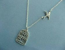 Bird and Cage Necklace. womens gifts