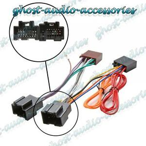 details about car stereo radio iso wiring harness connector adaptor loom cable for saab 95 9 5 saab 9-3 radio wiring harness saab radio wire harness #10