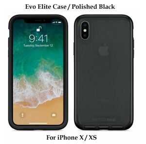 Tech21-Evo-Elite-Protective-Case-Cover-For-Apple-iPhone-X-XS-Polished-Black