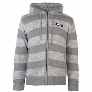 No-Fear-Mens-Knitted-Fleece-Hoody-Lined-Knitwear-Hoodie-Hooded-Top-Zip-Full