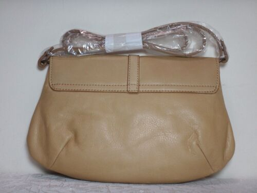NWT Lucky Brand Ring Leather MD Clutch White//Light Brown